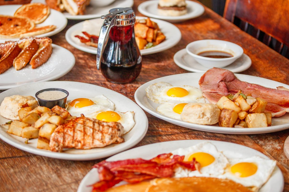 Puckett's breakfast options range from traditional to creative, with a buffet on the weekends